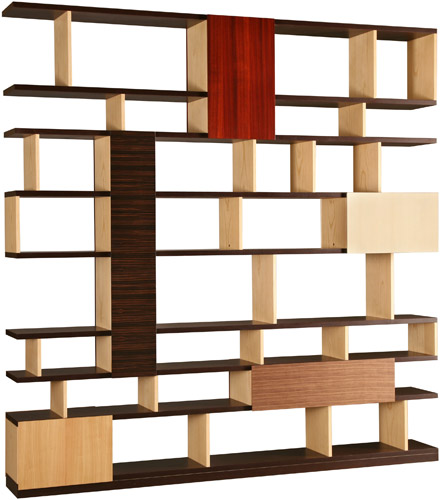 patchwork bookcase, patchwork furniture, patchwork design, modern patchwork, contemporary patchwork, wood patchwork,