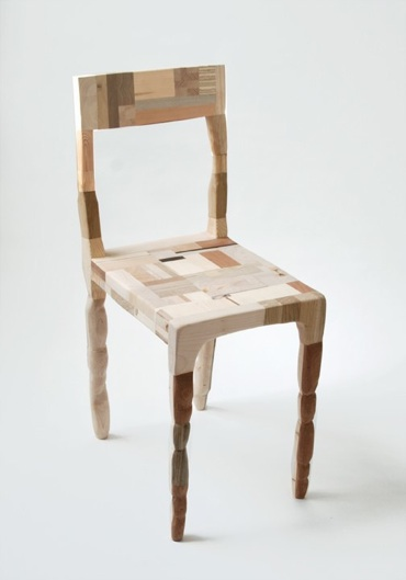 PatchworkChair amy hunting, Amy Hunting. wood waste design, recycled furniture, reclaimed wood funriture, wood chair