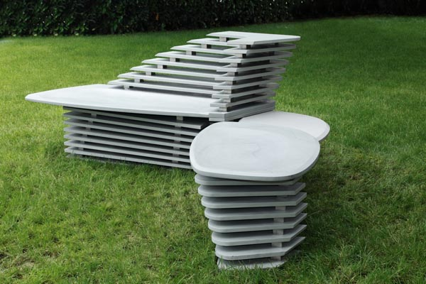 furniture, garden, design, stone furniture
