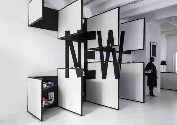 shop 03-3, graphic installation, minimal concept store design