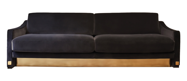 Sofa with frame in solid wood