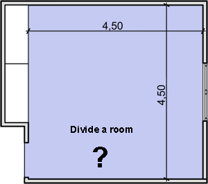 How to divide a bedroom in two spaces for How to devide a room