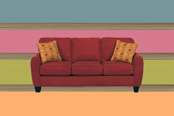 Which Modern Bright Color In The Living Room To Combine With Burgundy Leather Sofa