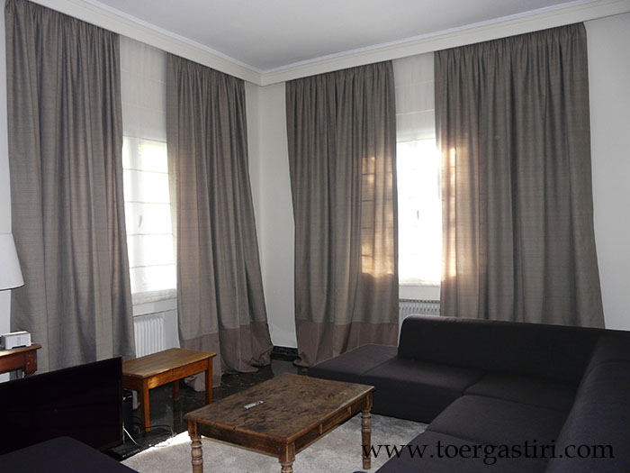 Living Room Curtains Window Treatment Roman Panels D Crown Moulding