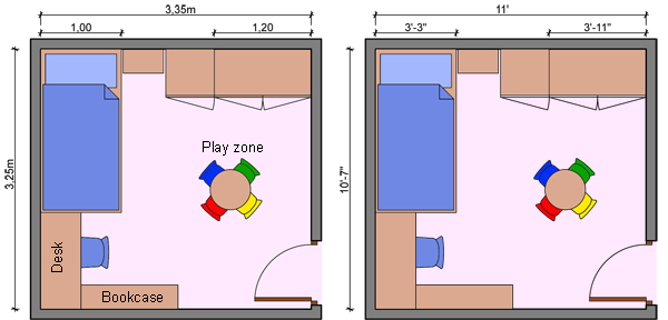 bedroom layout ideas kid s bedroom layouts with one bed 10511