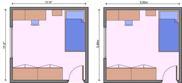 Kid's bedroom layouts with one bed
