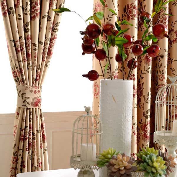 Country Floral Curtains With Feature Of Insulated Are