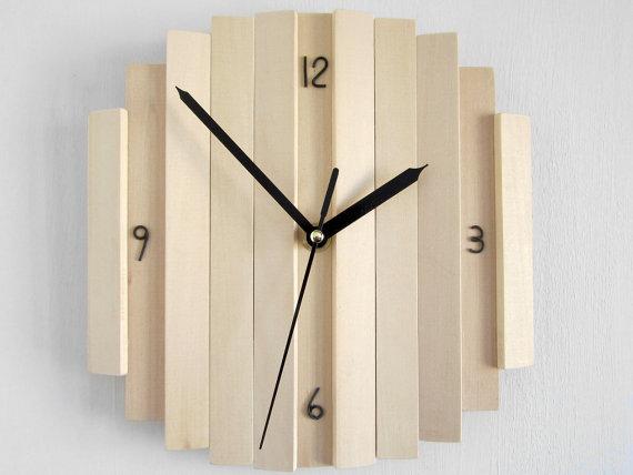 Wallclock Wall Clock Wooden Relief